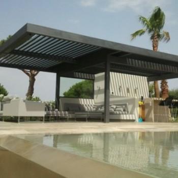 Kit pergola lame orientable gallery of free pergola ombra avec lames orientables ct et toit en - Pergola bioclimatique en kit leroy merlin ...